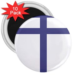 Patriarchal Cross  3  Magnets (10 Pack)