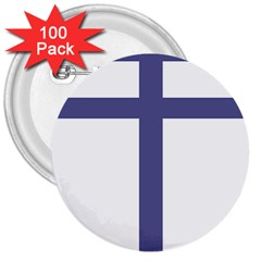 Patriarchal Cross  3  Buttons (100 Pack)