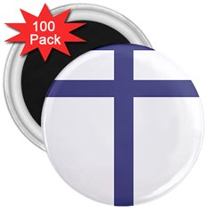 Patriarchal Cross  3  Magnets (100 Pack)