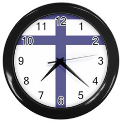 Patriarchal Cross  Wall Clocks (black)
