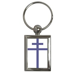 Patriarchal Cross  Key Chains (rectangle)