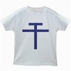 Patriarchal Cross  Kids White T Shirts