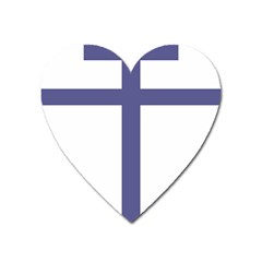 Patriarchal Cross  Heart Magnet