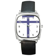 Patriarchal Cross  Square Metal Watch