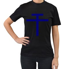 Patriarchal Cross  Women s T Shirt (black) (two Sided)