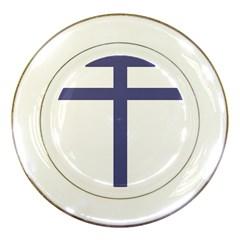Patriarchal Cross  Porcelain Plates