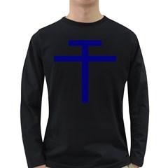 Patriarchal Cross  Long Sleeve Dark T Shirts