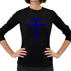 Patriarchal Cross  Women s Long Sleeve Dark T Shirts