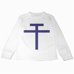 Patriarchal Cross  Kids Long Sleeve T Shirts