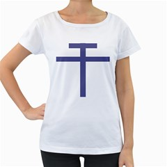 Patriarchal Cross  Women s Loose Fit T Shirt (white)
