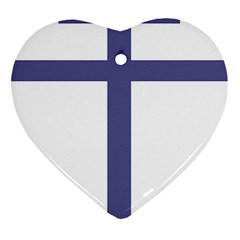Patriarchal Cross  Heart Ornament (Two Sides)