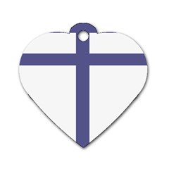 Patriarchal Cross  Dog Tag Heart (one Side)