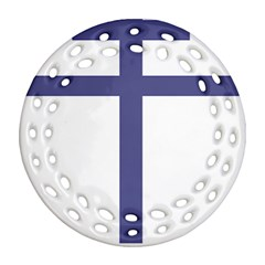 Patriarchal Cross  Round Filigree Ornament (Two Sides)