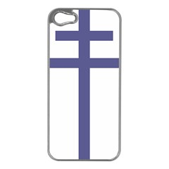 Patriarchal Cross  Apple iPhone 5 Case (Silver)