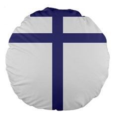 Patriarchal Cross  Large 18  Premium Flano Round Cushions