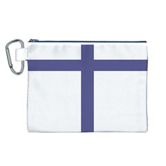 Patriarchal Cross  Canvas Cosmetic Bag (L)