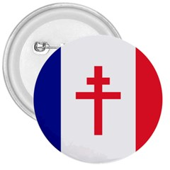 Flag of Free France (1940-1944) 3  Buttons