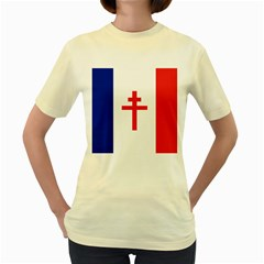 Flag Of Free France (1940 1944) Women s Yellow T Shirt
