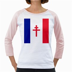 Flag Of Free France (1940 1944) Girly Raglans