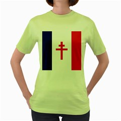 Flag Of Free France (1940 1944) Women s Green T Shirt