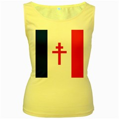 Flag Of Free France (1940 1944) Women s Yellow Tank Top