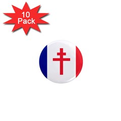 Flag Of Free France (1940 1944) 1  Mini Magnet (10 Pack)