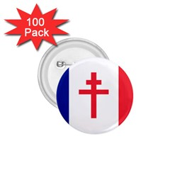 Flag Of Free France (1940 1944) 1 75  Buttons (100 Pack)