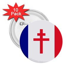 Flag Of Free France (1940 1944) 2 25  Buttons (10 Pack)