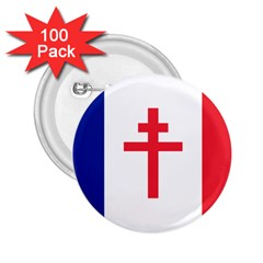 Flag Of Free France (1940 1944) 2 25  Buttons (100 Pack)