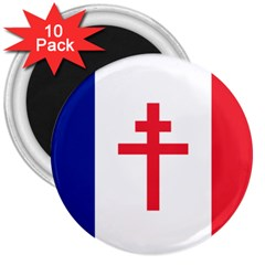 Flag Of Free France (1940 1944) 3  Magnets (10 Pack)