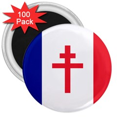 Flag Of Free France (1940 1944) 3  Magnets (100 Pack)