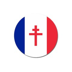 Flag Of Free France (1940 1944) Magnet 3  (round)