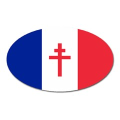 Flag Of Free France (1940 1944) Oval Magnet