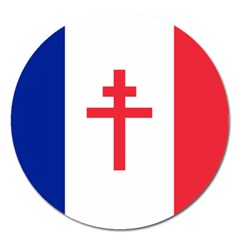Flag Of Free France (1940 1944) Magnet 5  (round)