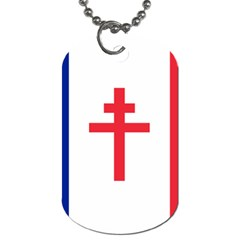 Flag Of Free France (1940 1944) Dog Tag (one Side)