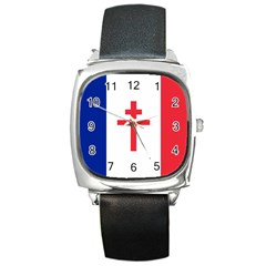 Flag Of Free France (1940 1944) Square Metal Watch
