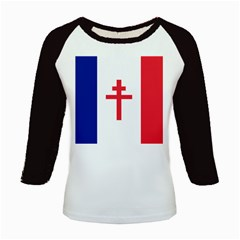 Flag Of Free France (1940 1944) Kids Baseball Jerseys