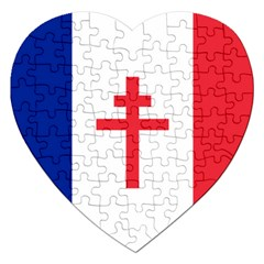 Flag Of Free France (1940 1944) Jigsaw Puzzle (heart)