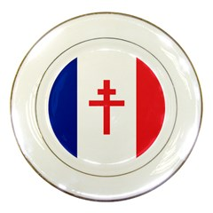 Flag Of Free France (1940 1944) Porcelain Plates