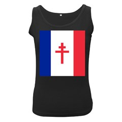 Flag Of Free France (1940 1944) Women s Black Tank Top