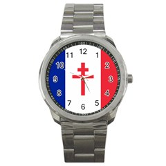Flag of Free France (1940-1944) Sport Metal Watch