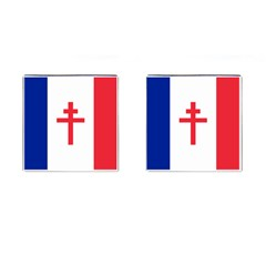 Flag Of Free France (1940 1944) Cufflinks (square)