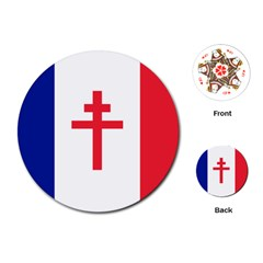 Flag Of Free France (1940 1944) Playing Cards (round)