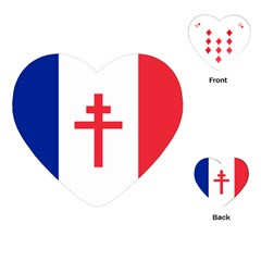 Flag Of Free France (1940 1944) Playing Cards (heart)