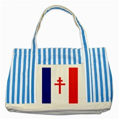 Flag Of Free France (1940 1944) Striped Blue Tote Bag