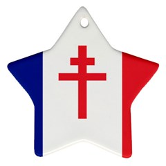 Flag Of Free France (1940 1944) Star Ornament (two Sides)