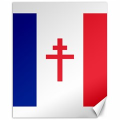 Flag Of Free France (1940 1944) Canvas 16  X 20