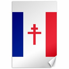 Flag Of Free France (1940 1944) Canvas 24  X 36