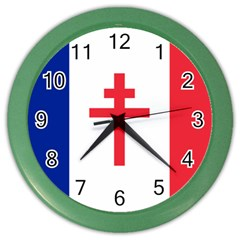 Flag of Free France (1940-1944) Color Wall Clocks