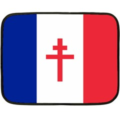Flag Of Free France (1940 1944) Fleece Blanket (mini)